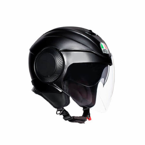 AGV Orbyt Solid Matt Black Open Face Helmet