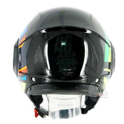 AGV Orbyt Sun and Moon 46 Gloss Black Open Face Helmet 1