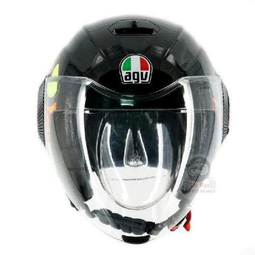 AGV Orbyt Sun and Moon 46 Gloss Black Open Face Helmet 2