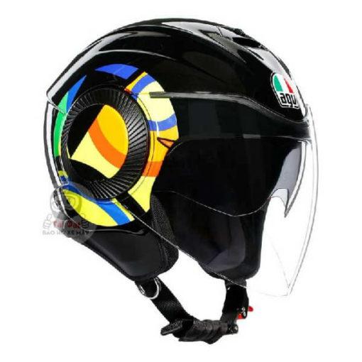 AGV Orbyt Sun and Moon 46 Gloss Black Open Face Helmet