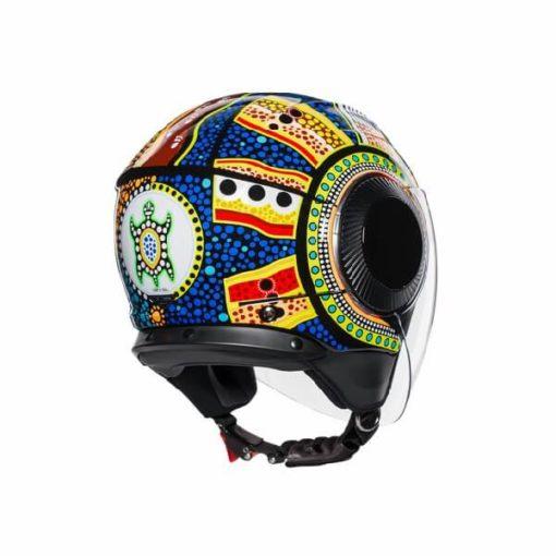 AGV Orbyt Top Dreamtime Blue Yellow White Open Face Helmet 1