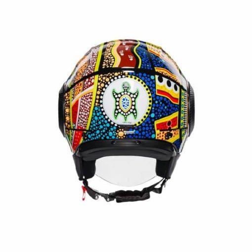 AGV Orbyt Top Dreamtime Blue Yellow White Open Face Helmet 2