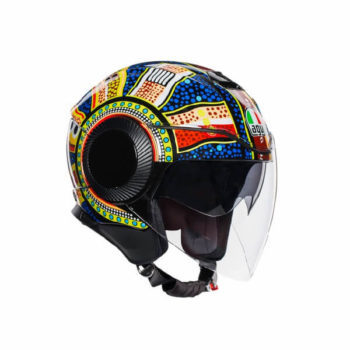 AGV Orbyt Top Dreamtime Blue Yellow White Open Face Helmet