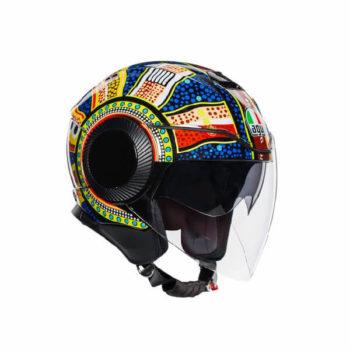 AGV Orbyt Top Dreamtime Blue Yellow White Open Face Helmet