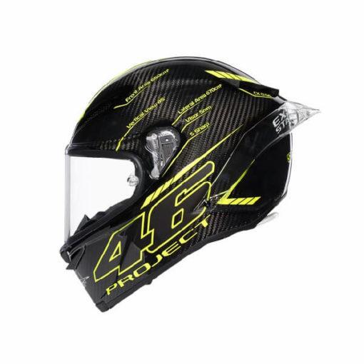AGV Pista GP R Project 46 3.0 Carbon Matt Black Green Full Face Helmet 3