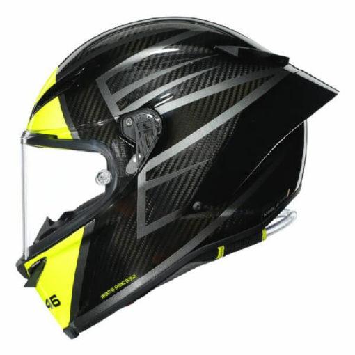 AGV Pista GP RR Essenza 46 Matt Black Yellow Full Face Helmet 3