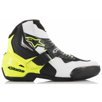 Alpinestars SMX 1 R Black White Yellow Boots 2020 1