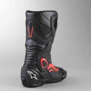 Alpinestars SMX 6 V2 Black Gray Fluorescent Red Riding Boots 2020