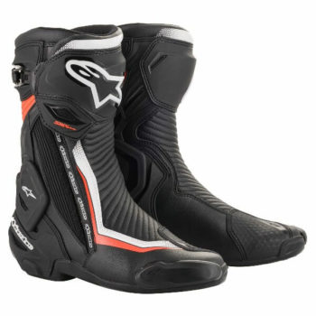 Alpinestars SMX Plus V2 Black White Fluorescent Red Riding Boots