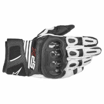 Alpinestars SP X Air Carbon V2 Black White Riding Gloves