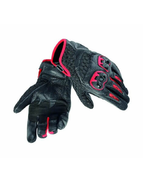 Dainese Air Hero Lady Black Lava Red Riding Gloves 1