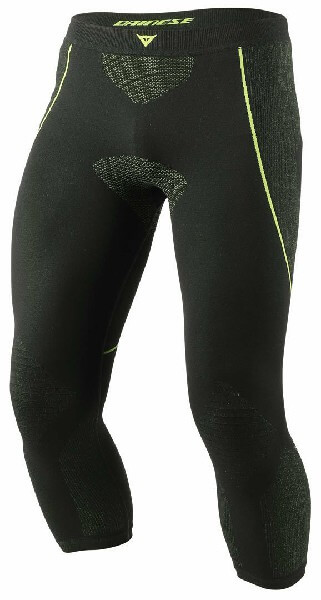 Dainese D Core Dry Black Fluorescent Yellow 3 4 Riding Pant 1