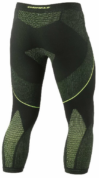 Dainese D Core Dry Black Fluorescent Yellow 3 4 Riding Pant 2