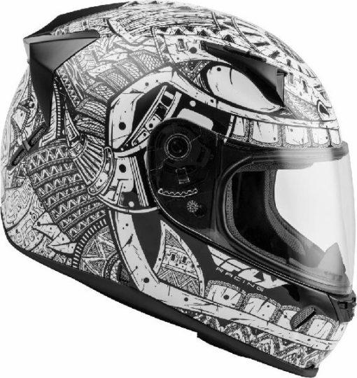 Fly Racing Codex Gloss White Black Full Face Helmet 2