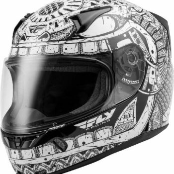 Fly Racing Codex Gloss White Black Full Face Helmet
