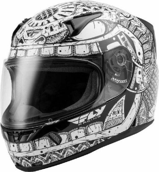 Fly Racing Codex Gloss White Black Full Face Helmet