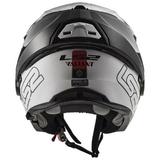LS2 FF399 Prox Matt Black White Red Flip Up Helmet 1