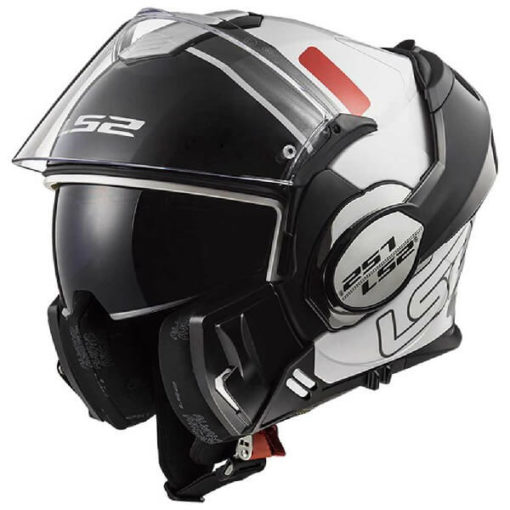 LS2 FF399 Prox Matt Black White Red Flip Up Helmet