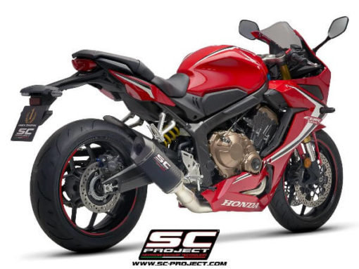 SC Project 4 in 1 Full System H31 C115C Exhaust With Carbon Fiber SC1 M Muffler For Honda CBR 650 R 1