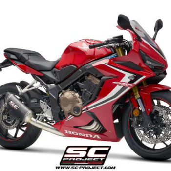 SC Project 4 in 1 Full System H31 C115C Exhaust With Carbon Fiber SC1 M Muffler For Honda CBR 650 R 2