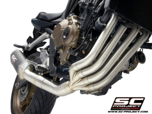 SC Project 4 in 1 Full System H31 C115C Exhaust With Carbon Fiber SC1 M Muffler For Honda CBR 650 R 3