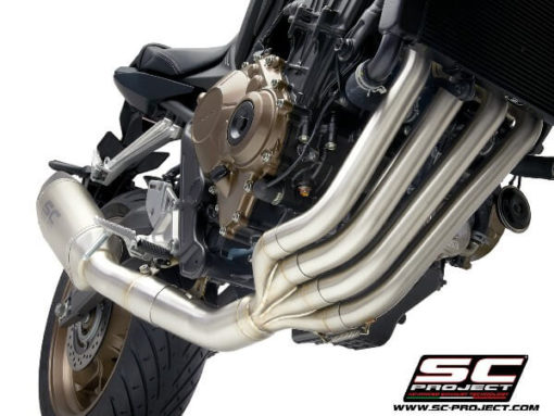 SC Project 4 in 1 Full System H31 C90C Exhaust With Carbon Fiber SC1 R Muffler For Honda CBR 650 R 1