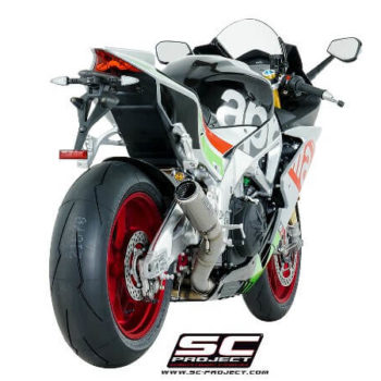 SC Project CRT A16 36T Slip On Titanium Exhaust For Aprilia RSV4 1