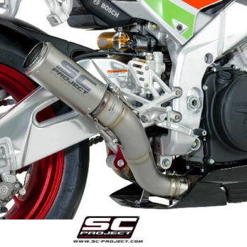 SC Project CRT A16 36T Slip On Titanium Exhaust For Aprilia RSV4 2
