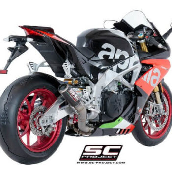 SC Project CRT A18 HT36C Slip On Carbon Fiber Exhaust For Aprilia RSV4 1
