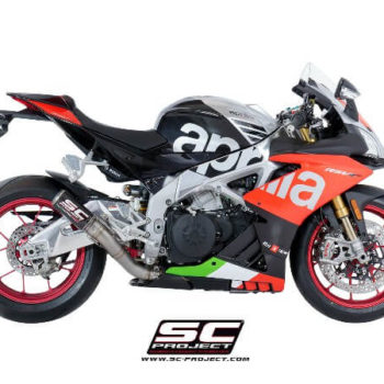 SC Project CRT A18 HT36C Slip On Carbon Fiber Exhaust For Aprilia RSV4 2