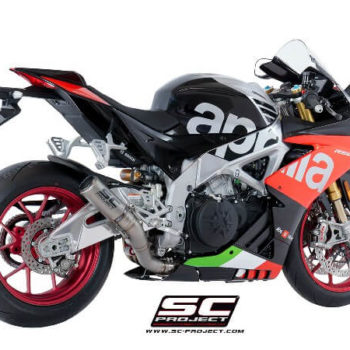 SC Project CRT A18 HT36T Slip On Titanium Exhaust For Aprilia RSV4 1