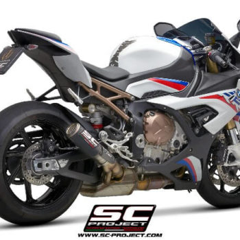 SC Project CRT B33 36CR Slip On Cabon Fiber Exhaust With Titanium Mesh For BMW S1000 RR 1