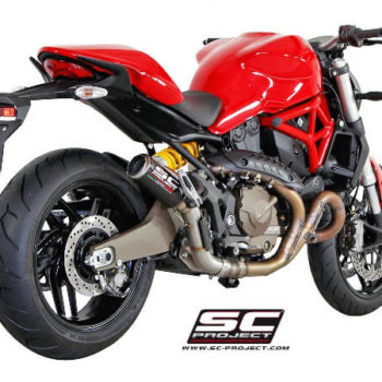 SC Project CRT D14 38T Slip On Titanium Exhaust For Ducati Monster 821 1