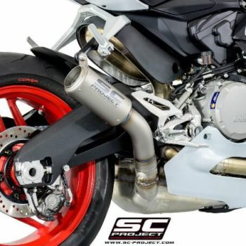 SC Project CRT D20 T36T Slip On Titanuim Exhaust For Ducati Panigale 959 2