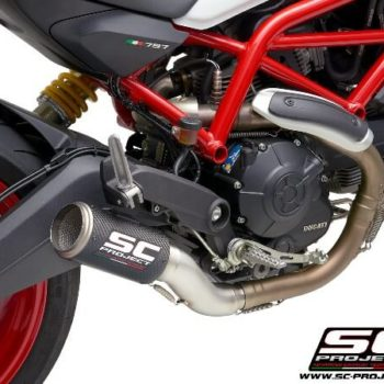 SC Project CRT D32 T36C Slip On Carbon Fiber Exhaust For Ducati Monster 797 2