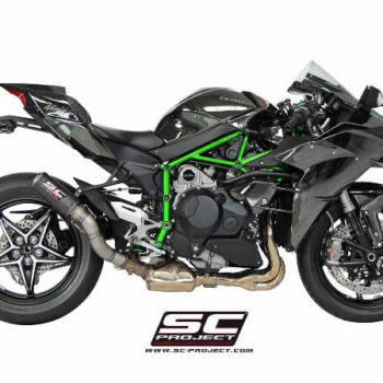 SC Project CRT K21 38C Slip On Carbon Fiber Exhaust For Kawasaki Ninja H2 2