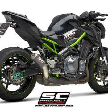 SC Project CRT K25 T36CR Slip On Carbon Fiber With Titanium Mesh Exhaust For Kawasaki Z900 1