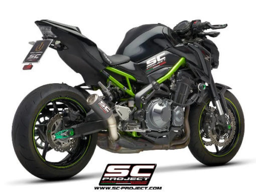 SC Project CRT K25 T36CR Slip On Carbon Fiber With Titanium Mesh Exhaust For Kawasaki Z900 1
