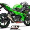 SC Project CRT K31B 38T Slip On Titanium Exhaust For Kawasaki Ninja 400 1