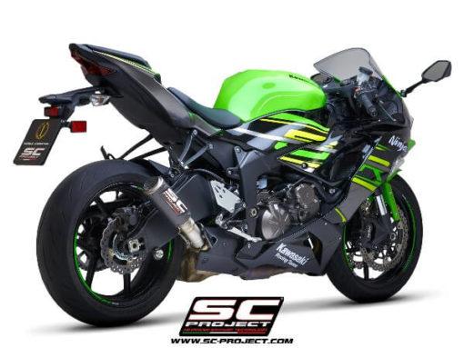 SC Project CRT K35 T36C Slip On Carbon Fiber Exhaust For Kawasaki Ninja ZX 6R 1