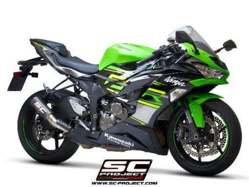 SC Project CRT K35 T36C Slip On Carbon Fiber Exhaust For Kawasaki Ninja ZX 6R 3