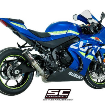 SC Project CRT S16 T36CR Slip On Carbon Fiber With Titanium Mesh Exhaust For Suzuki GSX R1000 1