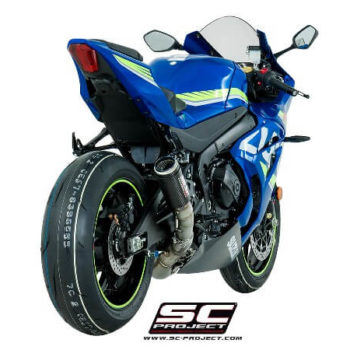 SC Project CRT S16 T36CR Slip On Carbon Fiber With Titanium Mesh Exhaust For Suzuki GSX R1000 2