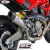 SC Project Conical D14 34T Slip On Titanium Exhaust For Ducati Monster 821 2