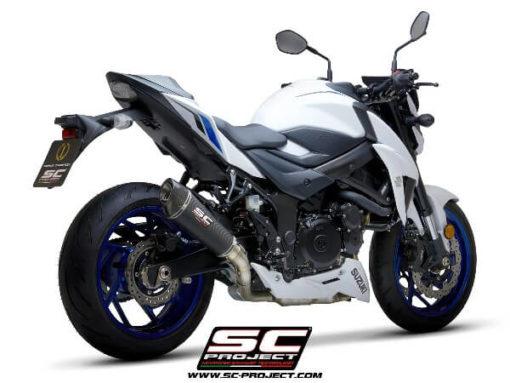 SC Project Conical S15 34C Slip On Carbon Fiber Exhaust For Suzuki GSX S750 1