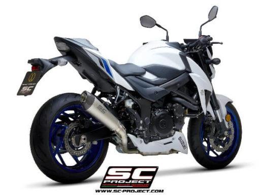 SC Project Conical S15 34T Slip On Titanium Exhaust For Suzuki GSX S750 1