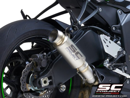 SC Project GP70 R K35 T70T Slip On Titanium Exhaust For Kawasaki Ninja ZX 6R 636 2
