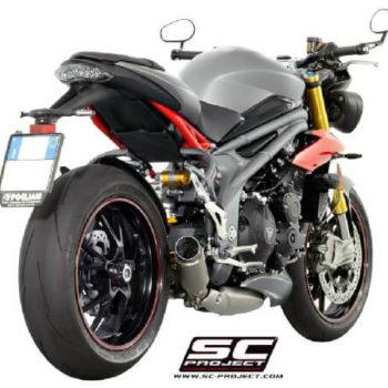 SC Project GP70 R T16 LT70T Slip On Titanium Exhaust For Triumph Speed Triple 1050 1