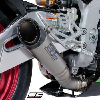 SC Project Low Position S1 A18 LT41T Slip On Titanium Exhaust For Aprilia RSV4 2