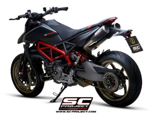 SC Project Pair of CRT M2 D31 T68C Slip On Carbon Fiber Exhaust For Ducati HyperMotard 950 SP 3